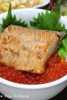 鮭の焼漬親子(鮭の焼き漬けとイクラ醤油漬)