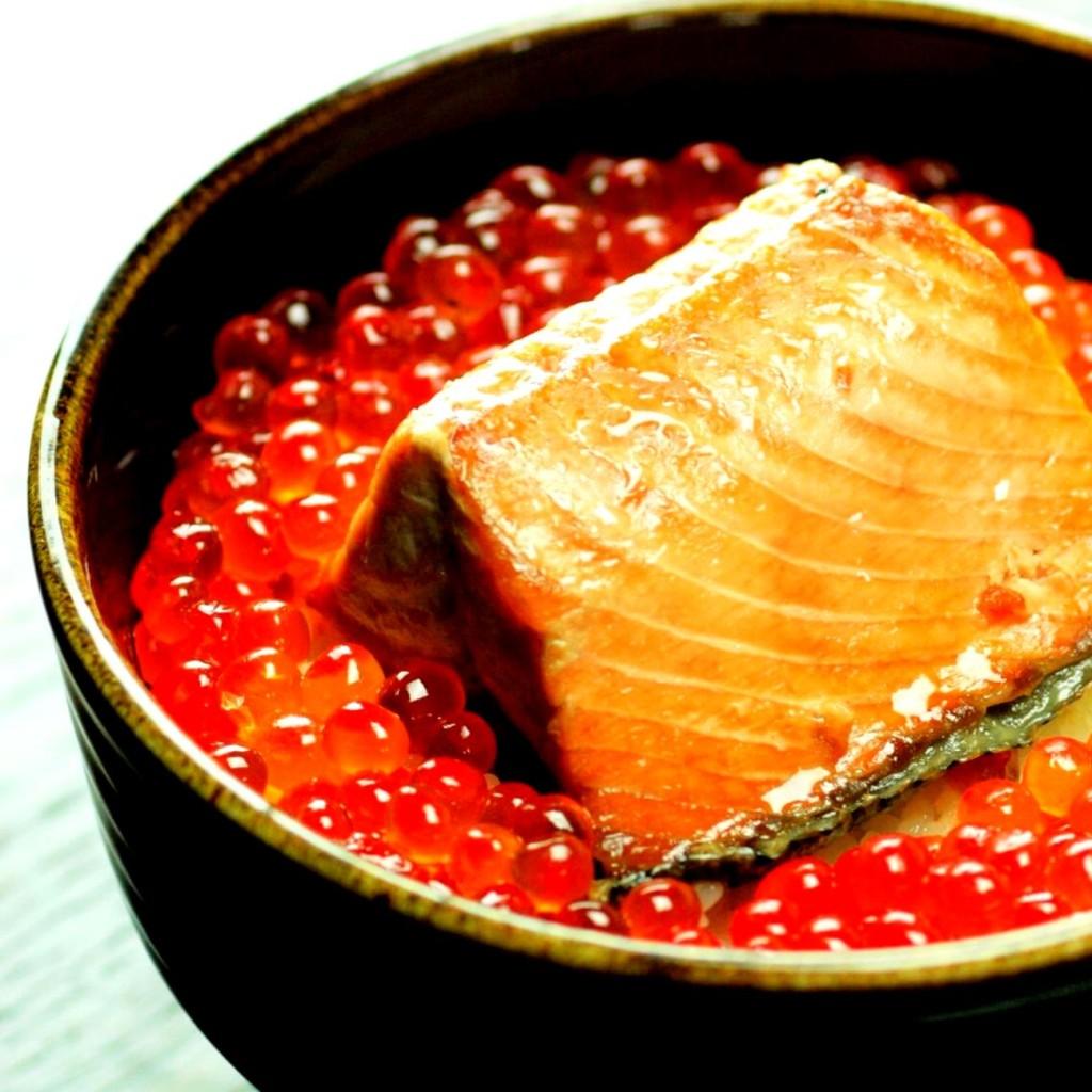 鮭の焼漬,いくら醤油漬